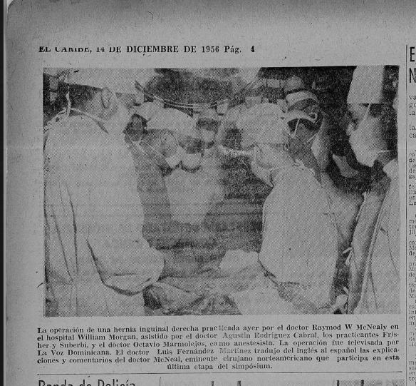 Transmision de cirugia, 1956