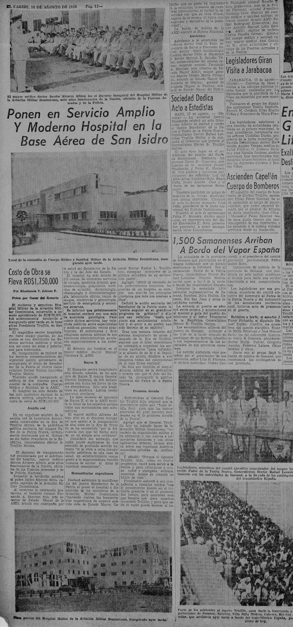 inauguration hospital Fuerza Aerea Dominicana
