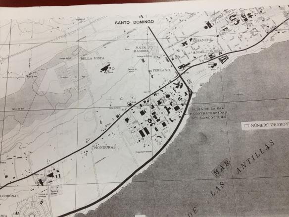 Localizacion de las Clinicas, Hospitales y Asilos en 1955.