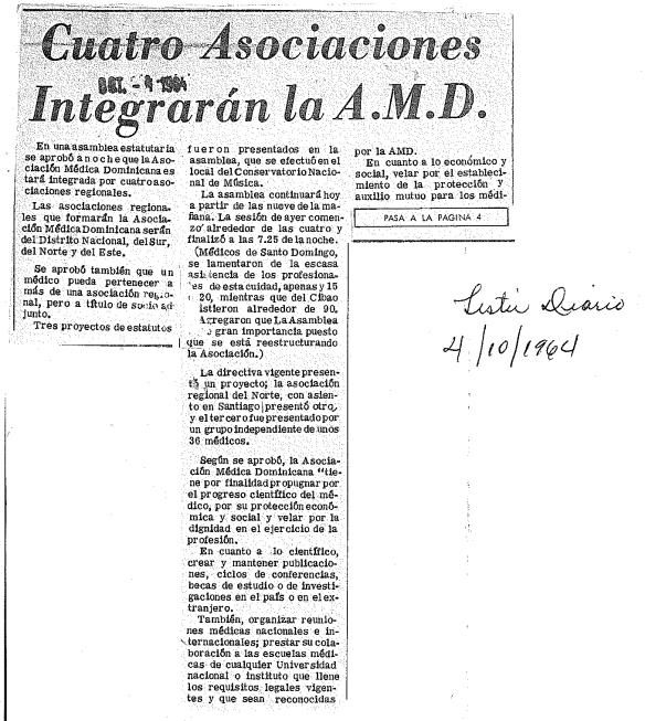 cuatro asociaciones amd 1964