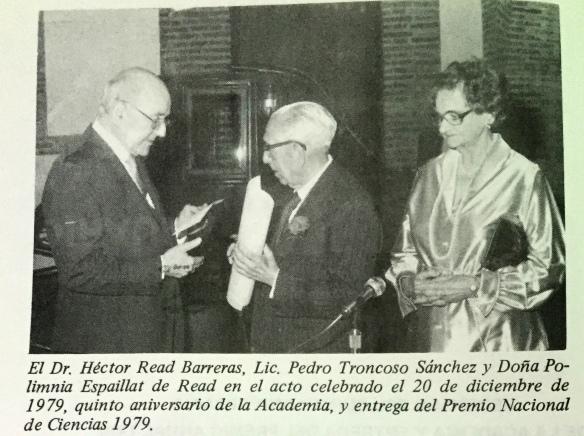 1979 dr hector read, permio de ciencias
