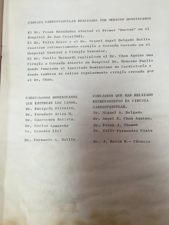 noticias cirugia corazon 1969, revista el medico