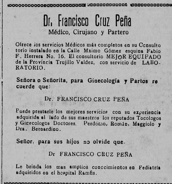 anuncio cruz pena ecos del valle 1947